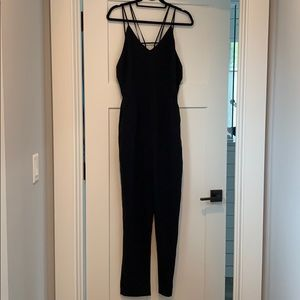 Lush black pant jumpsuit
